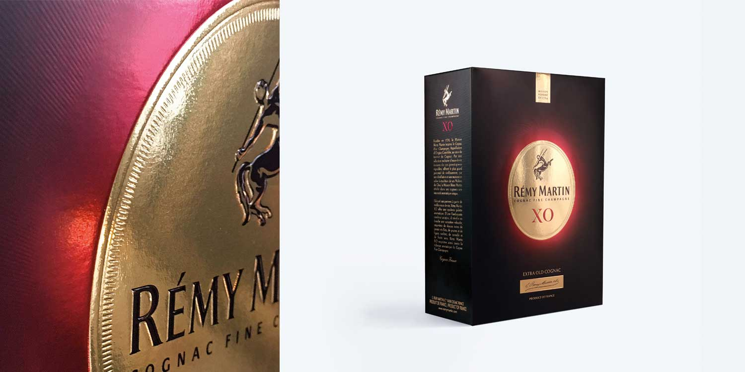 Rémy Martin XO packaging: from eye to palate