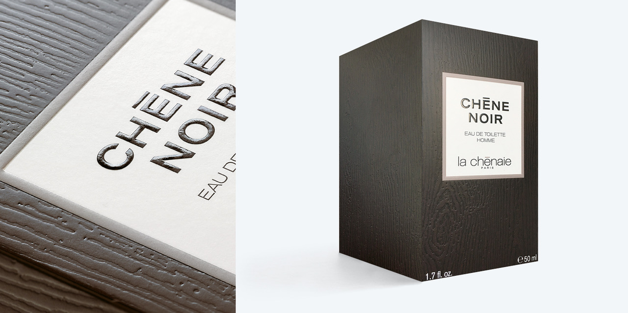 Packaging for Chêne noir: in the woody depths of sensoriality